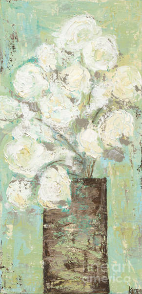 Wall Art - Painting - White Peonies by Kirsten Reed