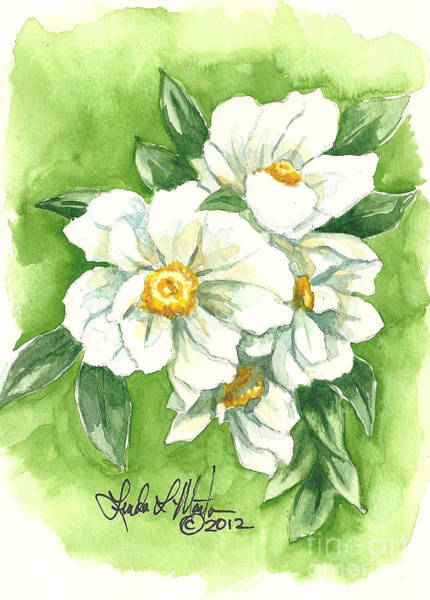 Painting - White Peony by Linda L Martin