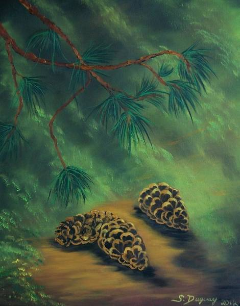 Pine Cones Painting - White Pine  And Cones by Sharon Duguay
