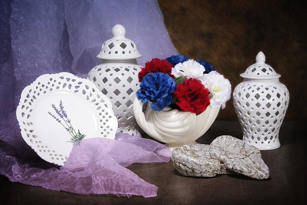 Ornate Photograph - White Porcelain Still Life by Tom Mc Nemar