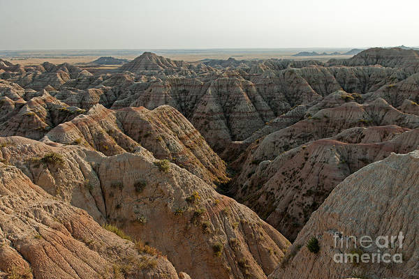 White River Valley Overlook Badlands National Park Art Print