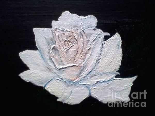 Painting - White Rose by Denise Railey