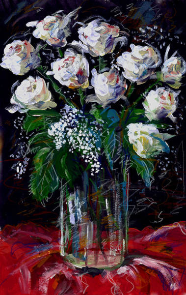 Painting - White Roses by Maxim Komissarchik
