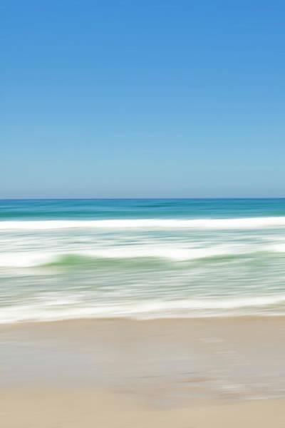 Surf City Usa Photograph - White Sand Beach Blurred Waves by Geri Lavrov