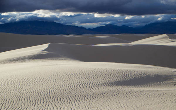 Photograph - White Sands And San Andres Mountains by Mary Lee Dereske