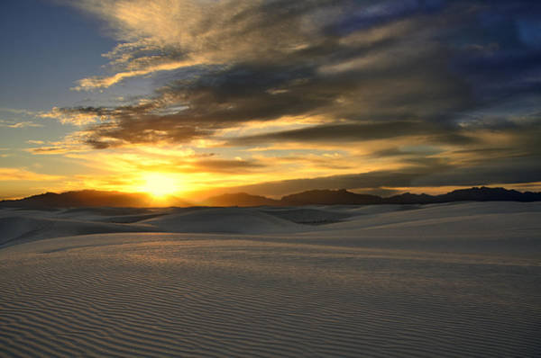 Photograph - White Sands Sunset by Walt Sterneman
