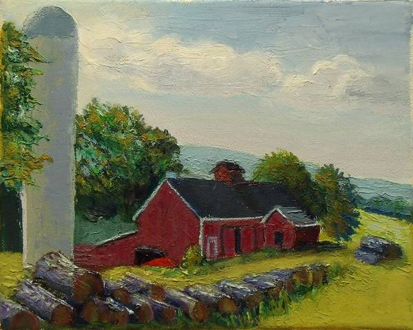 Painting - White Silo Winery Ct by Nicolas Bouteneff