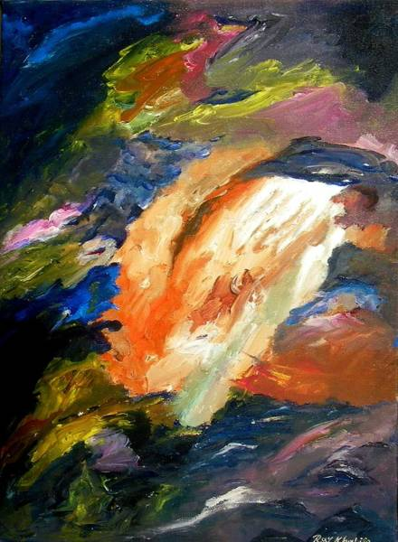 Painting - White Spot by Ray Khalife