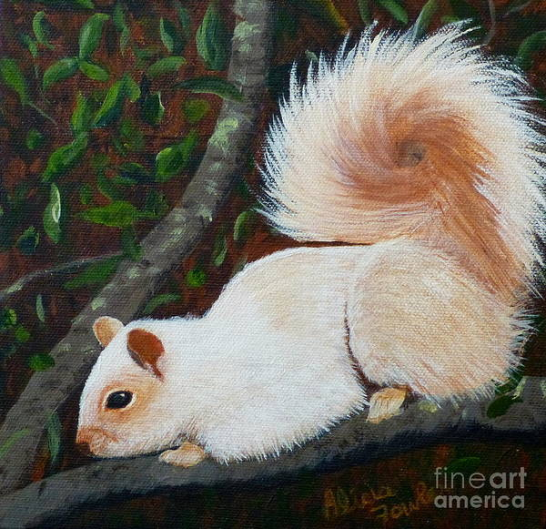 Painting - White Squirrel Of Sooke by Alicia Fowler
