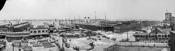 Photograph - White Star Line Piers by Russell Brown