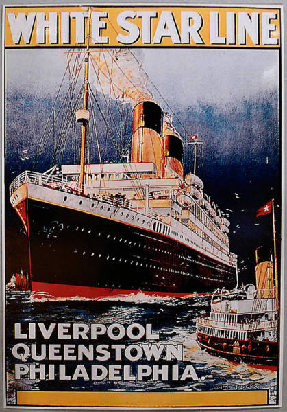 Photograph - White Star Line Poster 1 by Richard Reeve