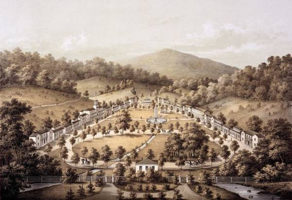 Spring Drawing - White Sulphur Springs, Montgomery County, Va by Edward Beyer