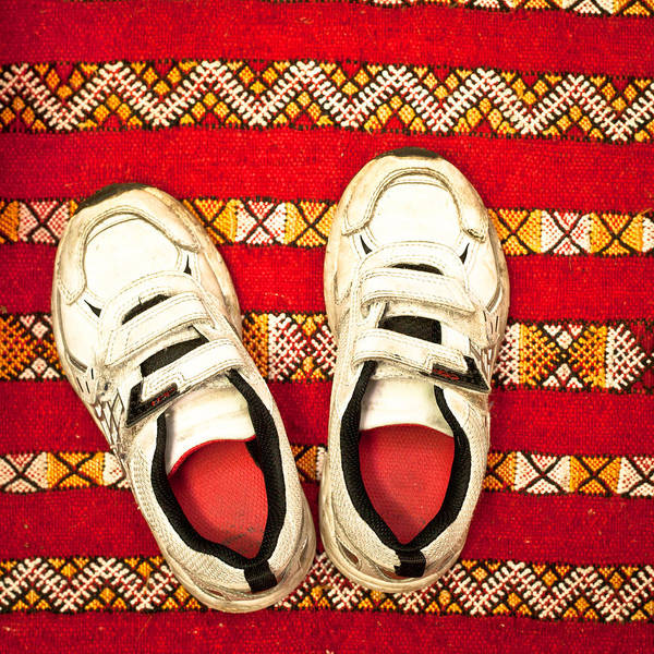 Casual Photograph - White Trainers by Tom Gowanlock