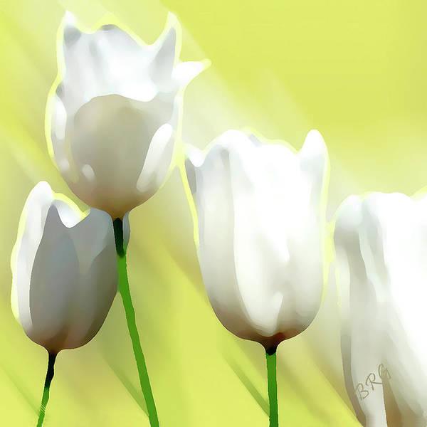 Photograph - White Tulips by Ben and Raisa Gertsberg