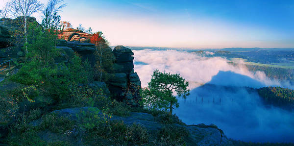 Photograph - White Wafts Of Mist Around The Lilienstein by Sun Travels