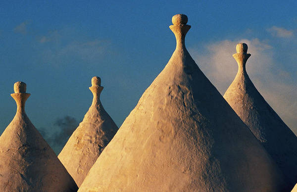 Mud House Photograph - White-washed Trulli Roofs by Oliver Strewe