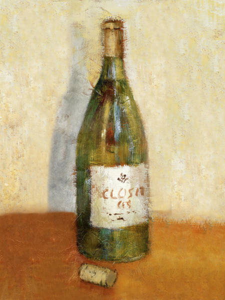White Wine Wall Art - Painting - White Wine And Cork by Lanie Loreth