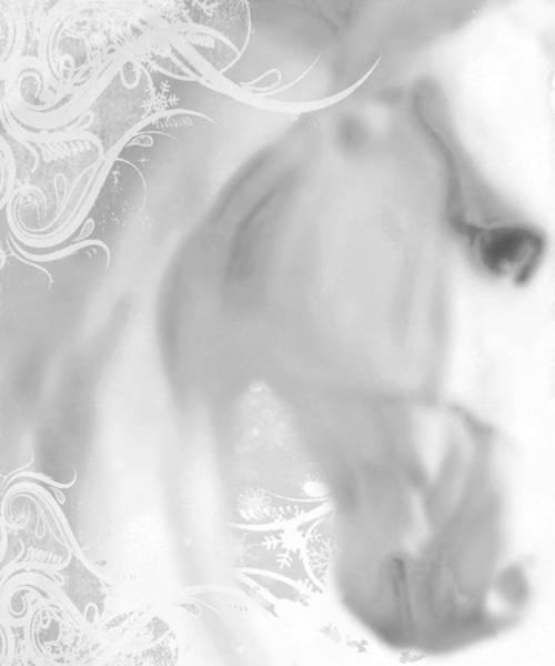 Painting - White Winter Horse 2 by Tony Rubino