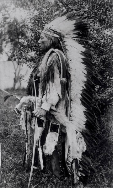 Ethnic Minority Photograph - White Wolf, A Comanche Chief, C.1891-98 Bw Photo by American School