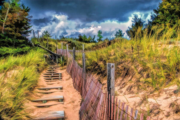 Painting - Whitefish Dunes State Park Stairs by Christopher Arndt