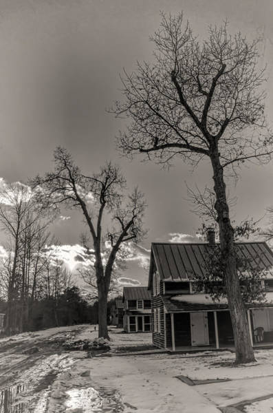 Photograph - Whitesbog Worker's Houses In Winter by Beth Sawickie