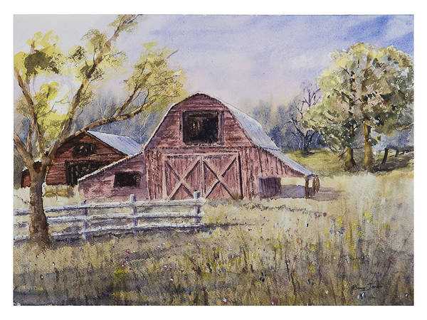 Painting - Whiteville Barn by Barry Jones