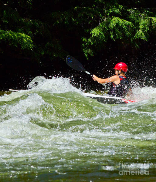 Photograph - Whitewater Kayak In Rough Water by Les Palenik