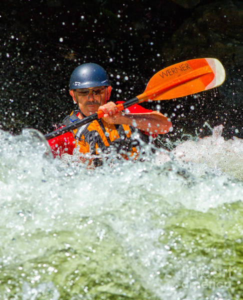 Photograph - Whitewater Kayaker by Les Palenik