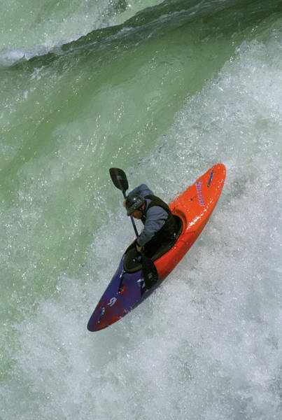 Whitewater Falls Photograph - Whitewater Kayaking by Colin Meagher