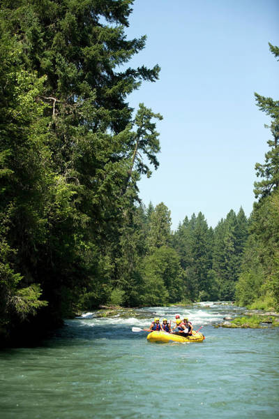 Raft Wall Art - Photograph - Whitewater Rafting On The White Salmon by Justin Bailie