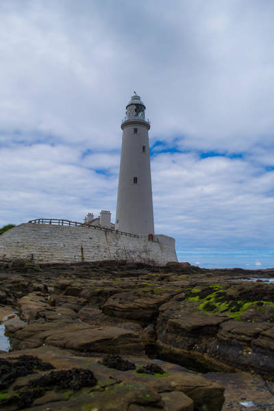 Photograph - Whitley Bay St Mary's Lighthouse by Scott Lyons