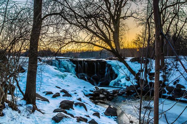 Photograph - Whitnall Waterfall In Winter by Randy Scherkenbach