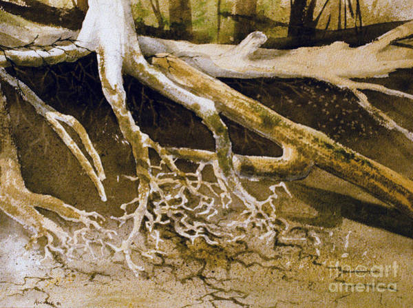 Ancient Woodland Painting - Whittier Root Patterns by Teresa Ascone