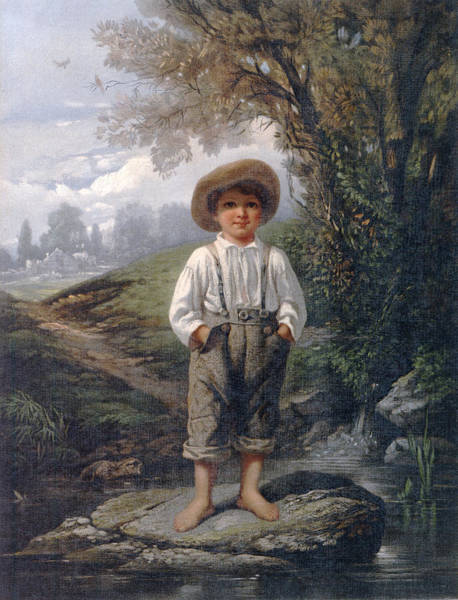 Wall Art - Drawing - Whittiers Barefooted Boy L. Prang & Co. Johnson, Eastman by Litz Collection