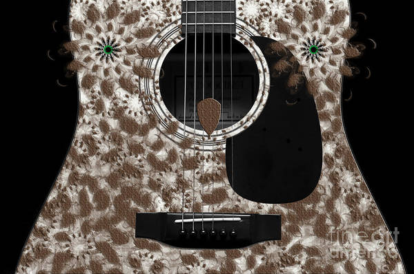 Photograph - Who Are You - Owl Abstract Guitar by Andee Design