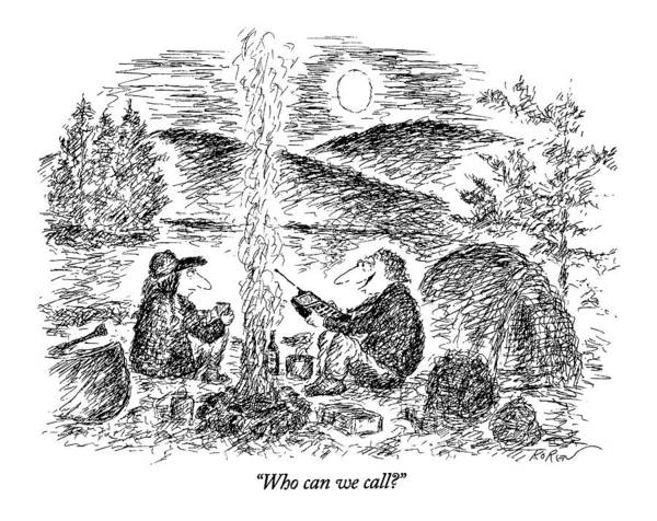 Mergers Drawing - Who Can We Call? by Edward Koren