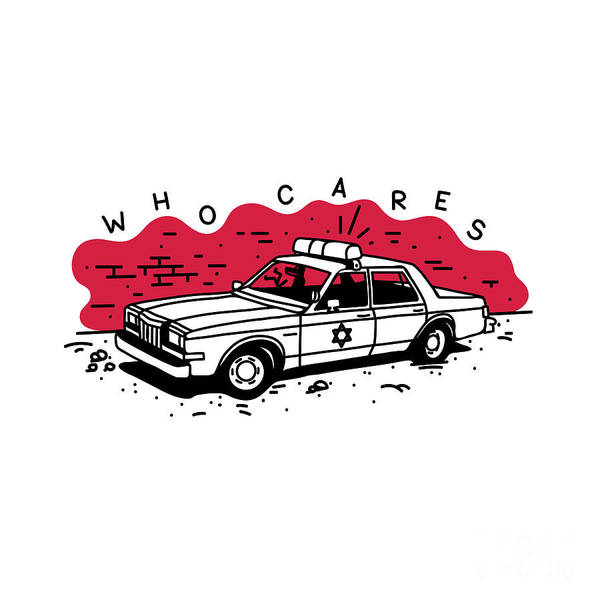 Who Cares Old American Police Car Near Art Print