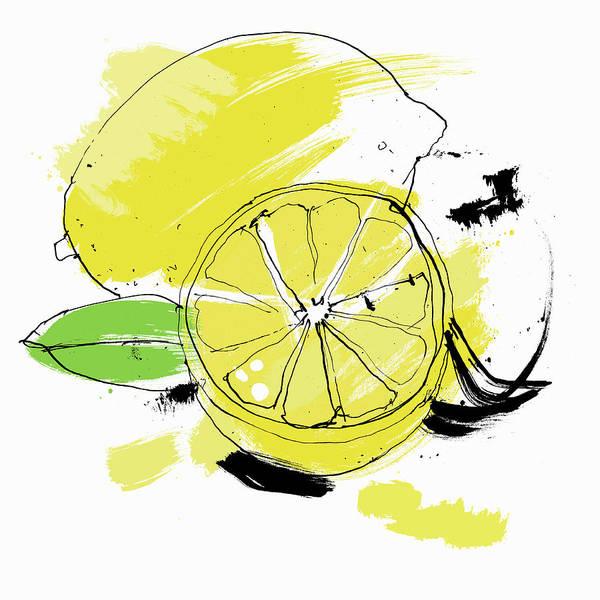 Wall Art - Photograph - Whole And Cut Lemon by Ikon Ikon Images