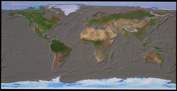 Mid-atlantic Photograph - Whole Earth & Seabed by Copyright Tom Van Sant/geosphere Project, Santa Monica/science Photo Library