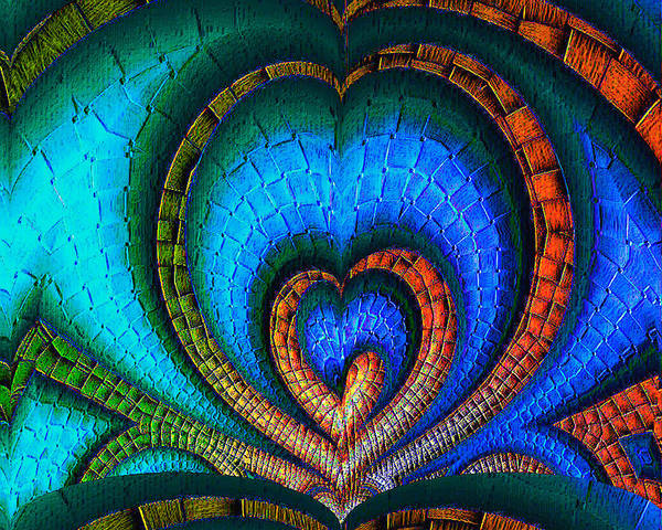 Red Brick Digital Art - Whole-hearted by Wendy J St Christopher