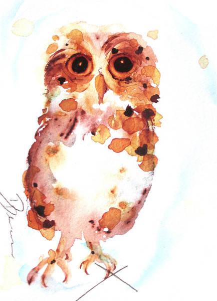 Painting - Whooo Me? by Dawn Derman