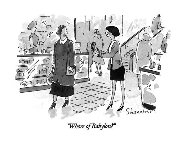Department Drawing - Whore Of Babylon? by Danny Shanahan