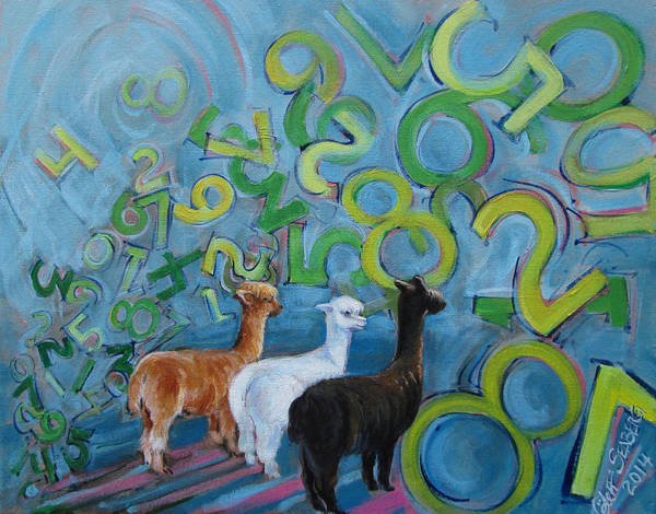 Alpaca Painting - Why All The Confusion? by Jeff Seaberg