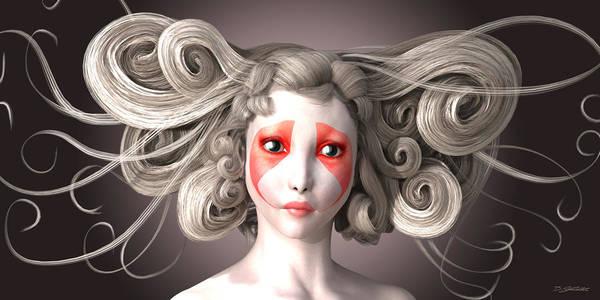 Hairdo Digital Art - Why by Britta Glodde