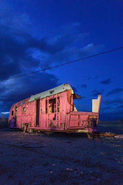 Photograph - Why Pink Airstream Travel Trailer by Scott Campbell