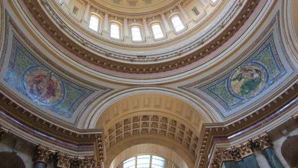 Photograph - Wi State Capitol Architecture 1 by Anita Burgermeister