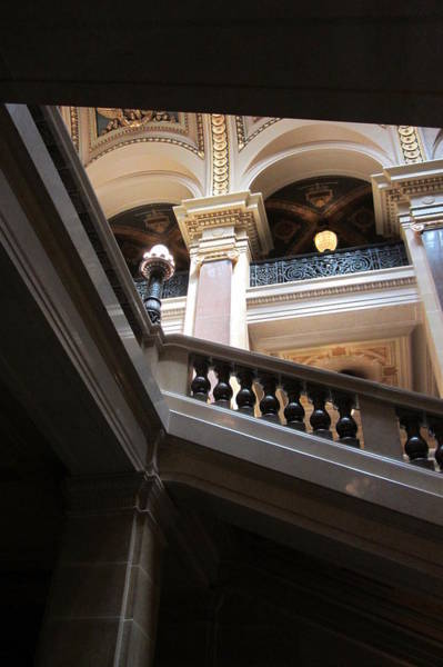 Photograph - Wi State Capitol Architecture 5 by Anita Burgermeister