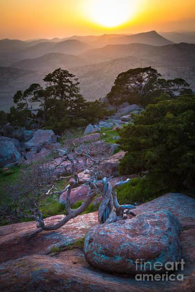 Photograph - Wichita Mountains Sunset by Inge Johnsson
