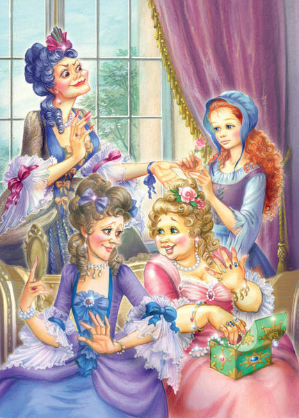 Cinderella Wall Art - Photograph - Wicked Sisters  by MGL Meiklejohn Graphics Licensing
