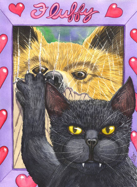 Painting - Wicked Wicked Kitty by Catherine G McElroy